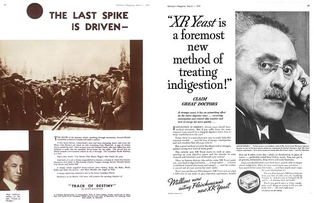 Article Preview: THE LAST SPIKE IS DRIVEN-, March 1st 1935 1935 | Maclean's