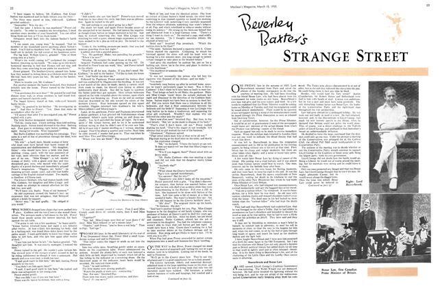 Article Preview: Beverley Baxter's STRANGE STREET, March 1935 | Maclean's