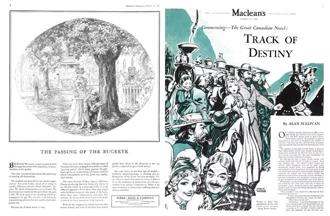 Article Preview: Commencing—The Great Canadian Novel: TRACK OF DESTINY, March 1935 | Maclean's