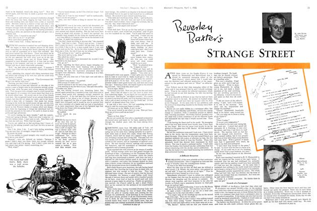 Article Preview: Beverley Baxter's STRANGE STREET, April 1st 1935 1935 | Maclean's
