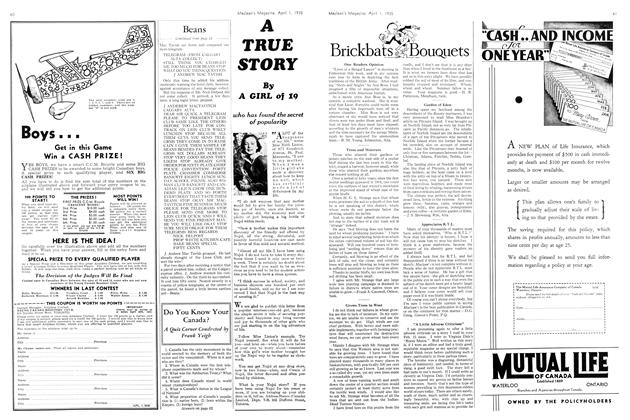 Article Preview: Do You Know Your Canada?, April 1st 1935 1935 | Maclean's