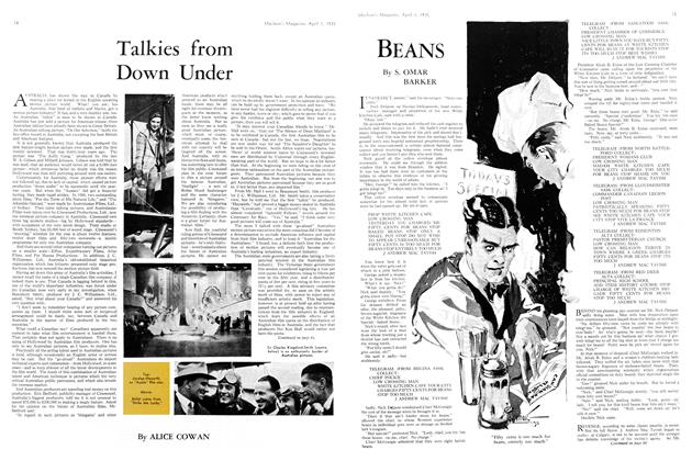 Article Preview: BEANS, April 1st 1935 1935 | Maclean's