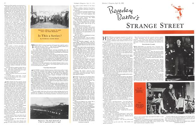 Article Preview: Beverly Baxter's STRANGE STREET, April 1935 | Maclean's