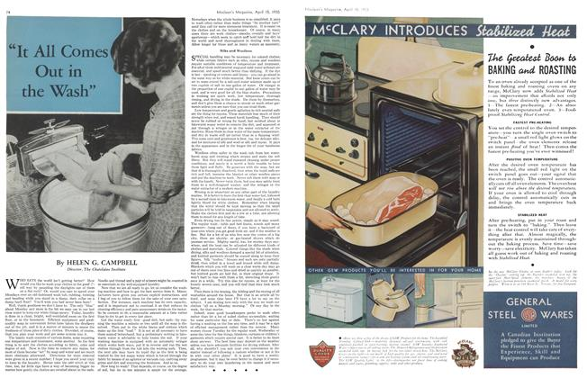 """Article Preview: """"It All Comes Out in the Wash"""", April 1935   Maclean's"""