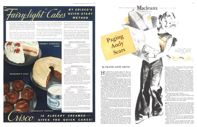 Article Preview: Paging Andy Sears, April 1935 | Maclean's