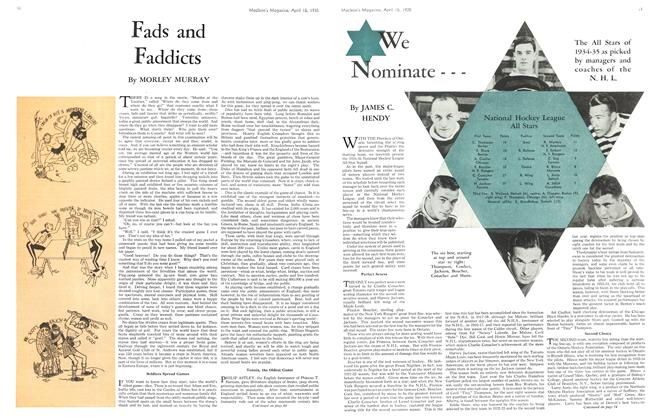 Article Preview: Fads and Faddicts, April 1935 | Maclean's