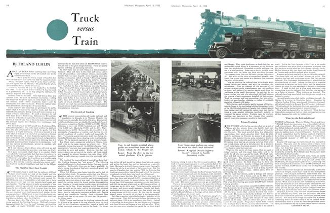 Article Preview: Truck versus Train, April 1935 | Maclean's