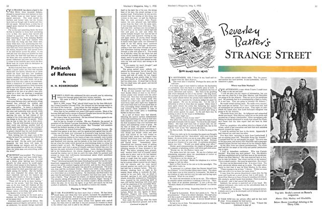 Article Preview: Beverley Baxter's STRANGE STREET, May 1st 1935 1935 | Maclean's