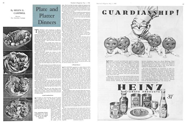 Article Preview: Plate and Platter Dinners, May 1st 1935 1935 | Maclean's