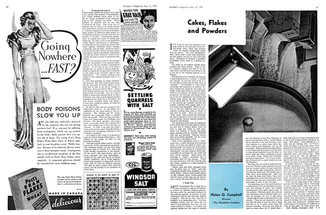 Article Preview: Cakes, Flakes and Powders, May 1935 | Maclean's
