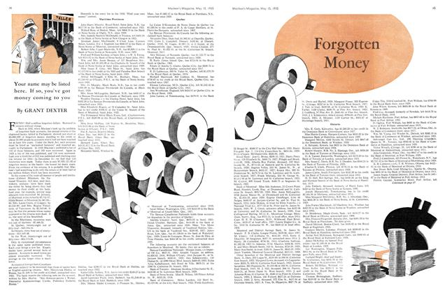 Article Preview: Forgotten Money, May 1935 | Maclean's