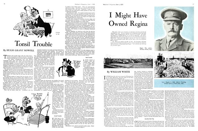 Article Preview: Tonsil Trouble, June 1st 1935 1935 | Maclean's