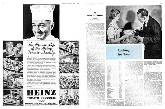 Article Preview: Cooking for Two, June 1st 1935 1935   Maclean's