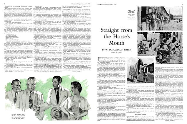 Article Preview: Straight from the Horse's Mouth, June 1st 1935 1935 | Maclean's