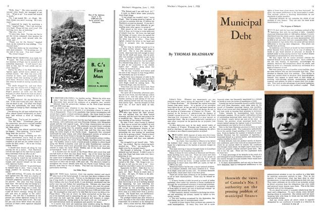 Article Preview: Municipal Debt, June 1st 1935 1935 | Maclean's