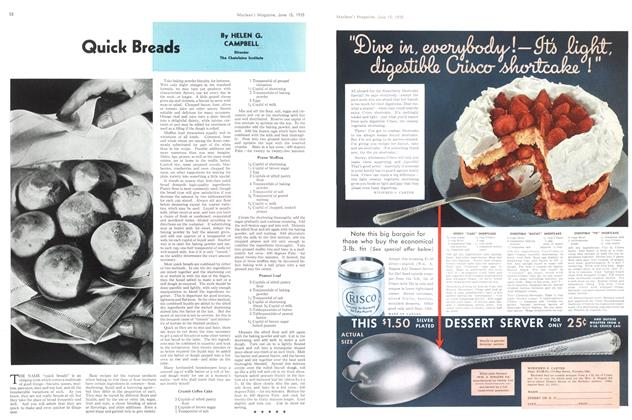 Article Preview: Quick Breads, June 1935 | Maclean's