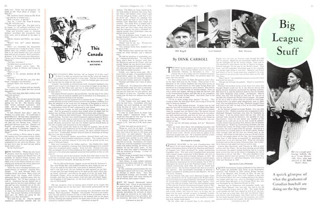 Article Preview: Big League Stuff, July 1st 1935 1935 | Maclean's