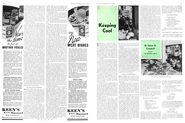 Article Preview: Keeping Cool, July 1st 1935 1935 | Maclean's