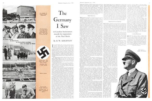 Article Preview: The Germany I Saw, July 1st 1935 1935 | Maclean's