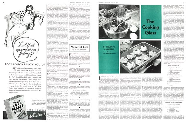 Article Preview: The Cooking Glass, July 1935 | Maclean's