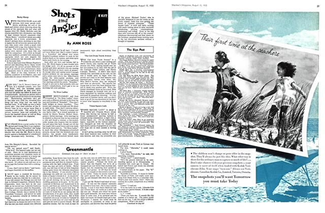 Article Preview: Shots and Angles, August 1935 | Maclean's