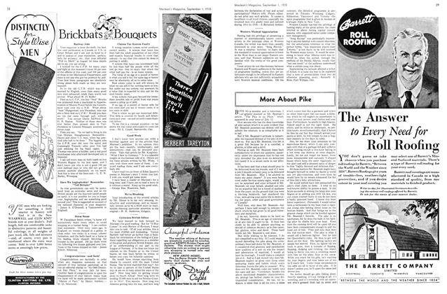Article Preview: More About Pike, September 1st 1935   Maclean's