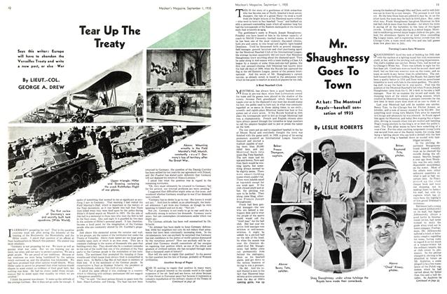 Article Preview: Tear Up The Treaty, September 1st 1935 | Maclean's