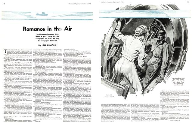 Article Preview: Romance in the Air, September 1st 1935 | Maclean's