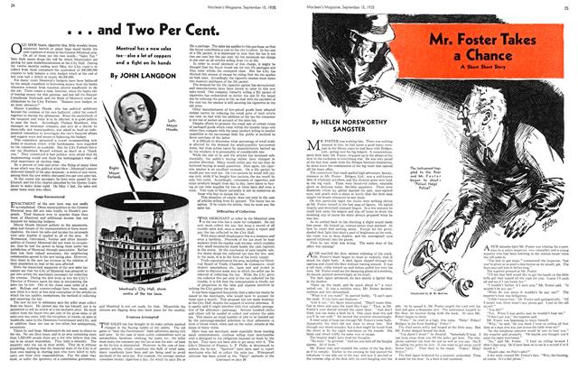Article Preview: Mr. Foster Takes a Chance, September 1935 | Maclean's