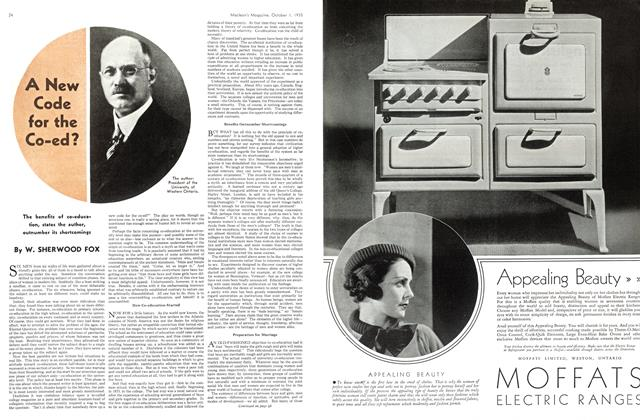 Article Preview: A New Code for the Co-ed?, October 1st 1935 | Maclean's