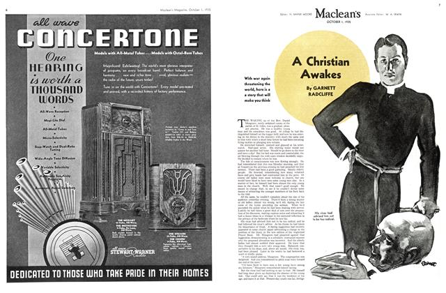 Article Preview: A Christian Awakes, October 1st 1935 | Maclean's