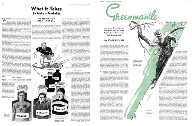 Article Preview: Green mantle, October 1st 1935 | Maclean's
