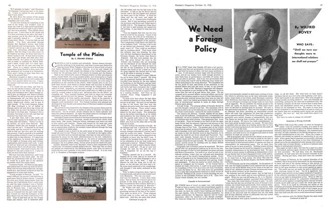 Article Preview: We Need a Foreign Policy, October 1935   Maclean's
