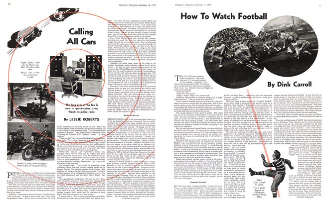 Article Preview: Calling All Cars, October 1935 | Maclean's
