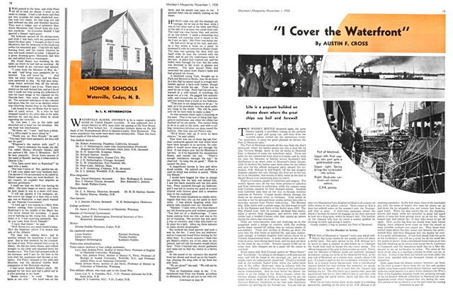 "Article Preview: ""I Cover the Waterfront"", November 1st 1935 1935 