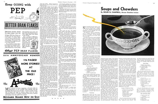 Article Preview: Soups and Chowders, November 1st 1935 1935 | Maclean's