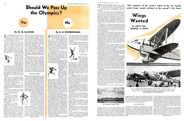 Article Preview: Should We Pass Up the Olympics? No, November 1st 1935 1935 | Maclean's