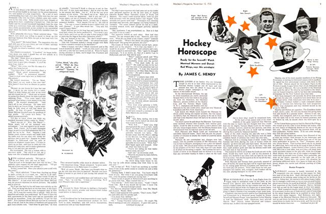Article Preview: Hockey Horoscope, November 1935 | Maclean's