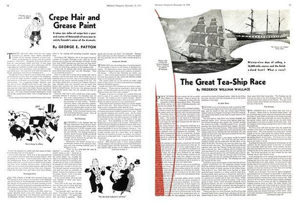 Article Preview: The Great Tea-Ship Race, December 1935 | Maclean's