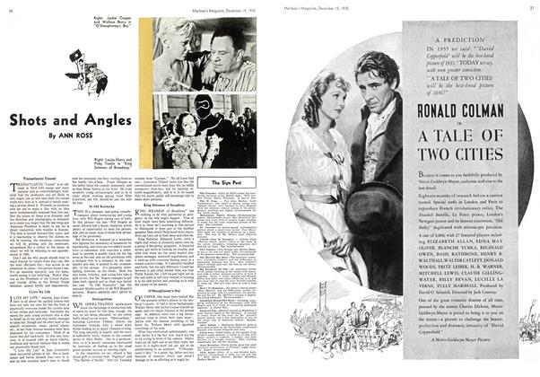 Article Preview: Shots and Angles, December 1935 | Maclean's
