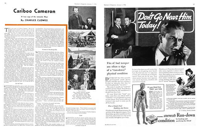 Article Preview: Cariboo Cameron, Jan. 1st 1936 1936 | Maclean's
