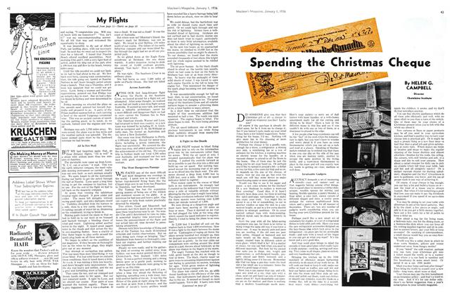 Article Preview: Spending the Christmas Cheque, Jan. 1st 1936 1936 | Maclean's