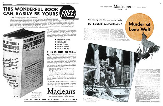 Article Preview: Murder at Lone Wolf, Jan. 1st 1936 1936 | Maclean's