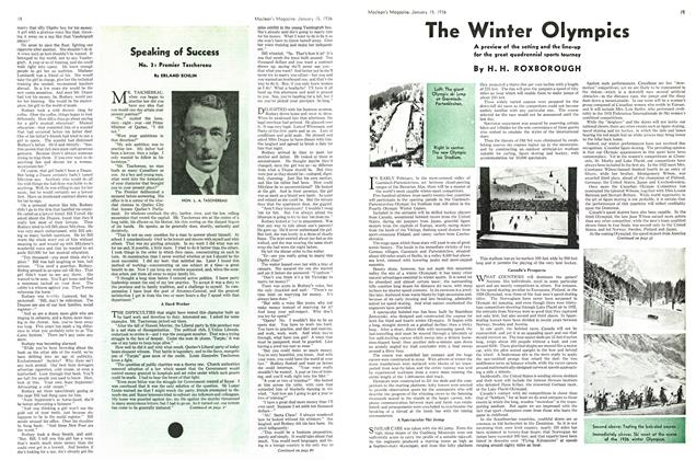 Article Preview: The Winter Olympics, January 1936 | Maclean's