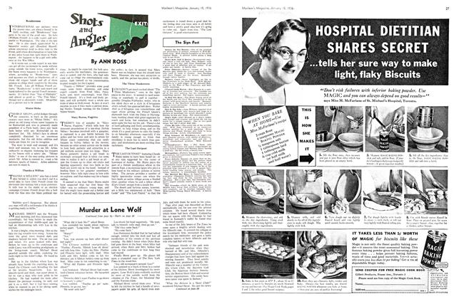 Article Preview: Shots and Angles, January 1936 | Maclean's
