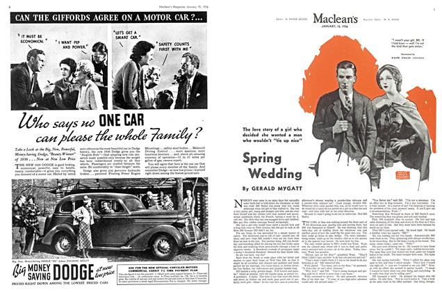 Article Preview: Spring Wedding, January 1936 | Maclean's