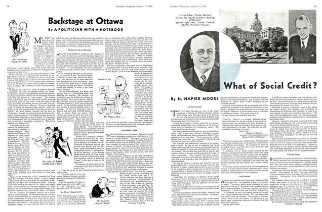 Article Preview: What of Social Credit?, January 1936 | Maclean's