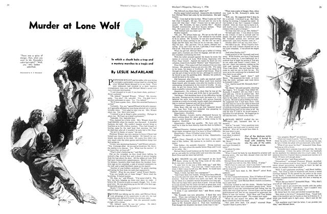 Article Preview: Murder at Lone Wolf, February 1936 | Maclean's