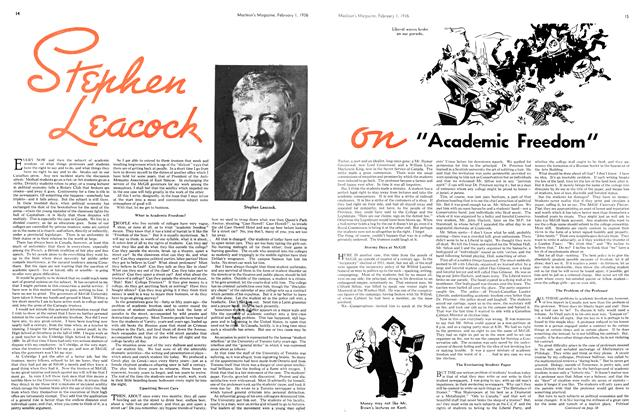 """Article Preview: """" Academic Freedom """", February 1936 