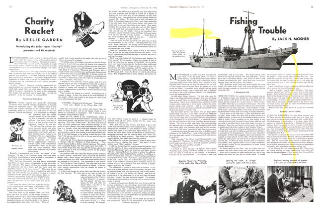 Article Preview: Fishing for Trouble, February 15,1936 1936 | Maclean's